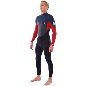Rip Curl Omega 3/2 Back Zip Steamer Wetsuit Heren, slate